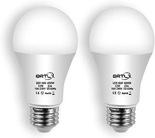 BRTLX LED電球 E26口金 12W 100W形相当 960lm 6000K 昼白色相当 広配光タイプ 省エネ90% 取付簡単 2個セット