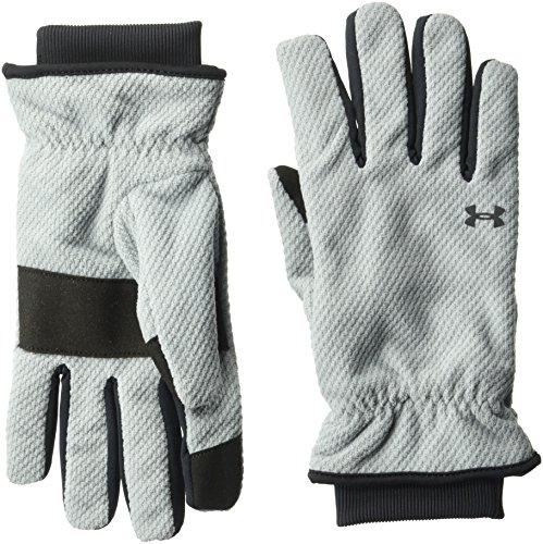 Under Armour Women's ColdGear Infrared Fleece Gloves, Steel (035)/Black, Large