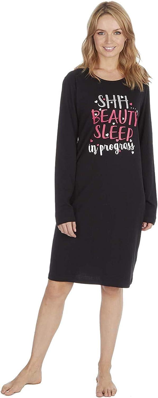 1 OR 3 PACK Womens Ladies Short Sleeve Jersey Fun Prints Nightshirt