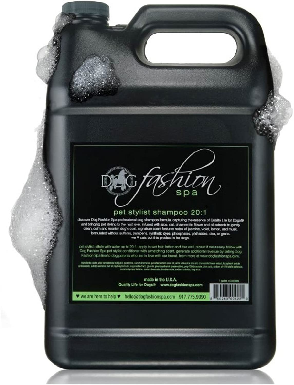Dog Fashion Spa 1 Gallon Natural Shampoo, Groomers Formula, 20 1 Dilution by Dog Fashion Spa