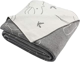 Safavieh Ella Knit Throw Blanket Light Grey/Ivory