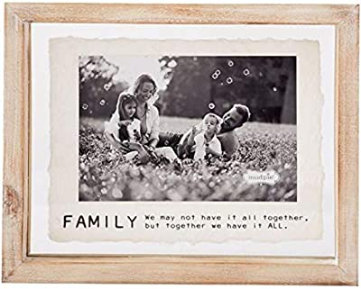 """Mud Pie """"Family Photo Picture Frame Family Kids Holds 4"""" x 6"""""""