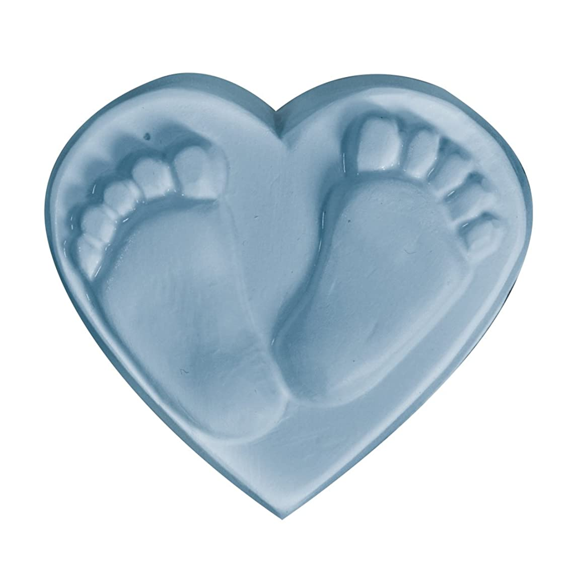 Milky Way - Baby Feet Heart Soap Mold Tray - Melt and Pour - Cold Process - Clear PVC - Not Silicone - MW 465