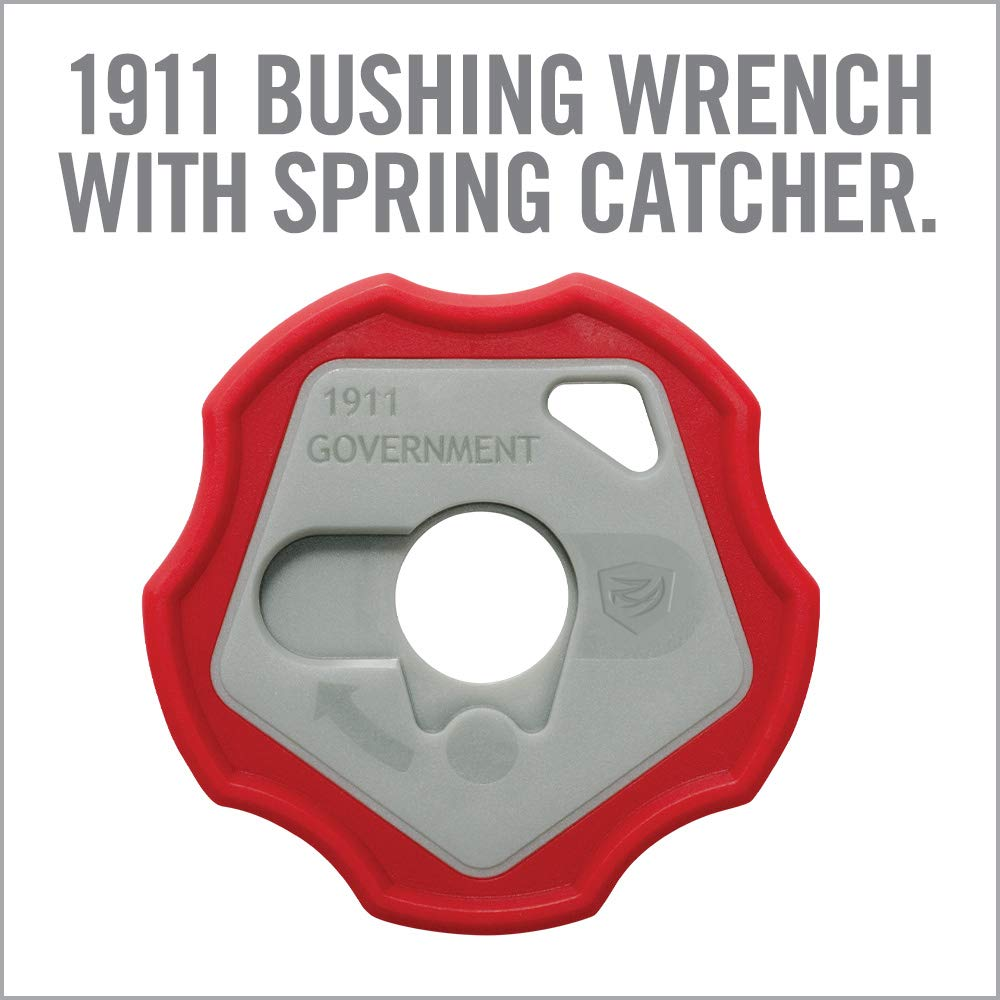 Real Avid 1911 Smart Wrench - 1911 Barrel Bushing Wrench, Government & Oficer, Rubberized Non-Slip Outer Ring , Gray