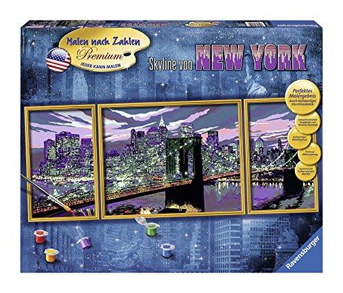Ravensburger Malen nach Zahlen 28951 - Skyline von New York - Perfektes Malergebnis durch hochwertiges Künstlerzubehör, ohne Rahmen