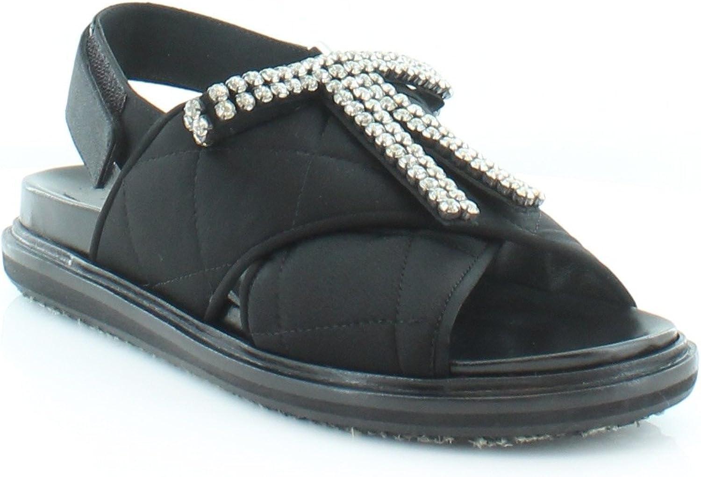Marni Embellished Fussbett Women's Sandals & Flip Flops Black Size 8.5 M