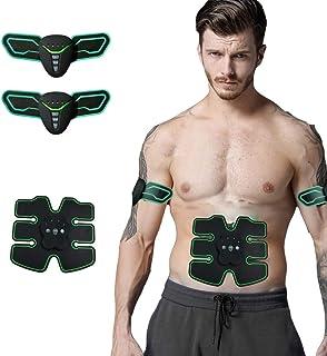 EMS Electroestimulador Muscular, Etiquetas engomadas del Entrenamiento del músculo Abdominal casero Perezoso Que Adelgazan 6 músculos Abdominales Smart Fitness 7ma batería, Green