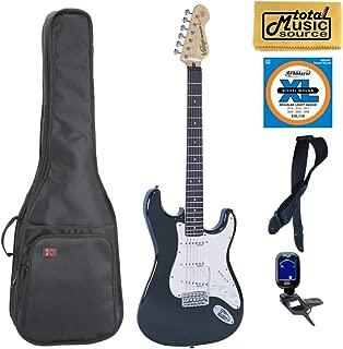 $459 » Vintage Guitars V6 Reissue Electric Guitar - Boulevard Black, Gigbag Bundle