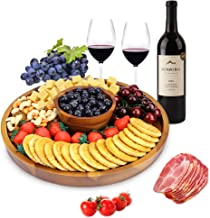 AIDEA Wood Cheese Board,12Inch Charcuterie Platter and Serving Tray for Cheese,Crackers and Appetizer.Large & Thick Wooden...