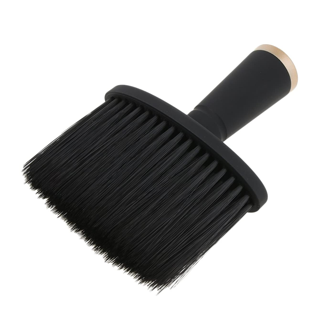 毒液郵便屋さん抜本的なFenteer ネックダスターブラシ ヘアカット ヘアブラシ ヘアスタイリスト 理髪 高品質 合成繊維+プラスチック 全2色 - ゴールド