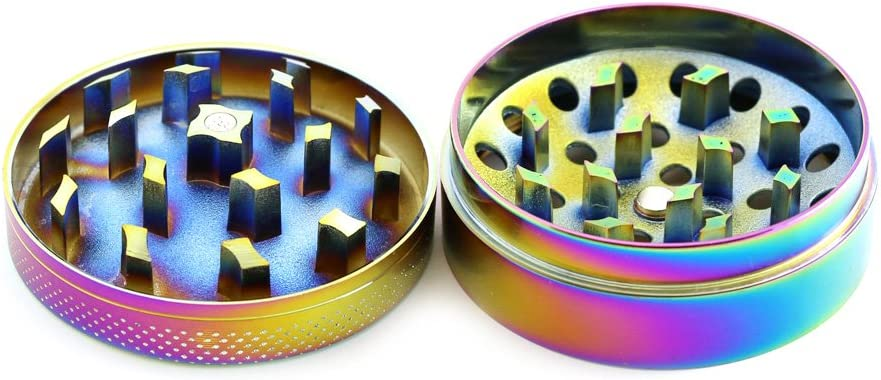 Pick Your Color Chromium Crusher 2.2 Inch 4 Piece Spice Herb Grinder