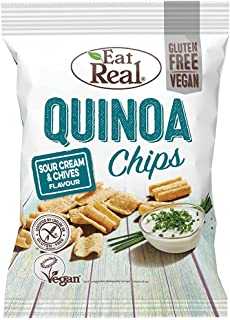 Eat Real Quinoa Chips, Sour Cream & Chive, 80 gm (Pack of 1)