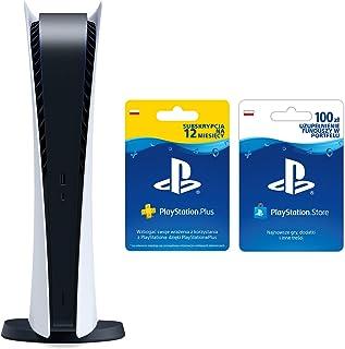 Sony Playstation 5 Digital + PlayStation Plus 12 miesięcy + PlayStation Live Card PSN 100 PLN