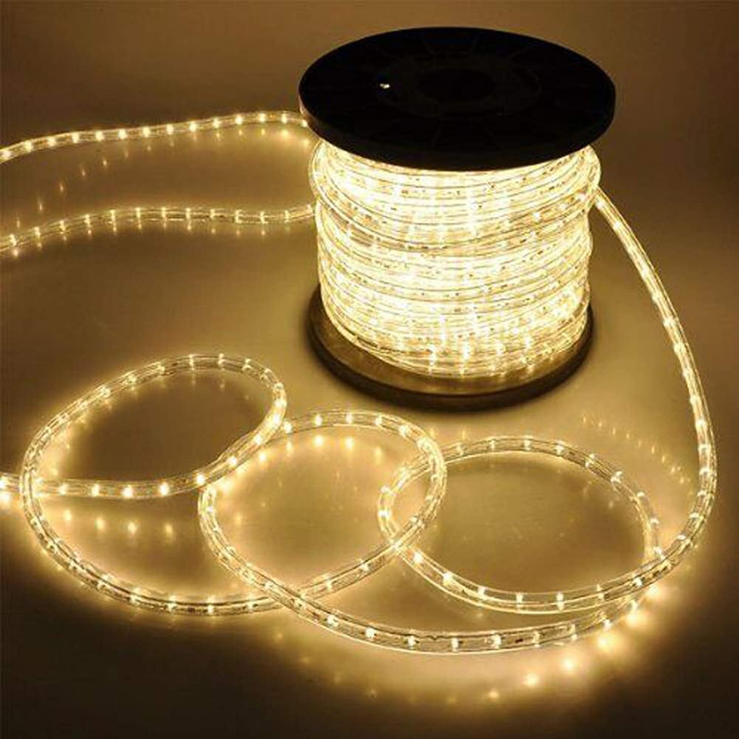 Pataku Warm White LED Rope Lights,150 ft/45 M,Low Voltage, Waterproof, Connectable Clear Tube Indoor Outdoor Light Rope and String for Deck, Patio, Pool, Bedroom, Boat, Landscape Lighting