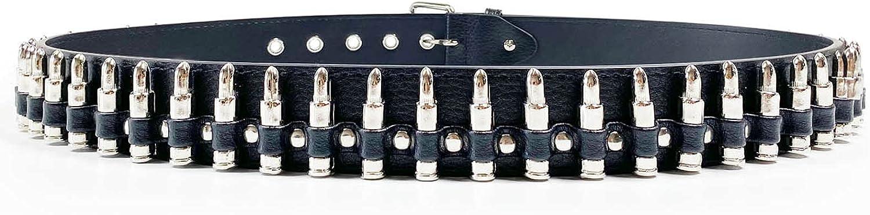 Bullet Rivet Belts Personalized Black Belt Fantastic PU Leather Belt For Jeans Hip Hop