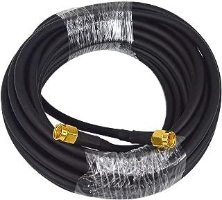 BOOBRIE アンテナケーブル SMAオス(pin)-SMAオス 延長ケーブル同軸ケーブル 同軸smaコネクタ 無線コネク RG58 5m