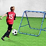 GYMAX Baseball Rebounder Net Football Soccer Sports Target Skill Trainer Bounce Pitch Back
