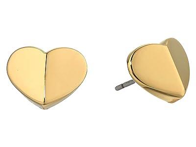 Kate Spade New York Heritage Spade Small Heart Studs Earrings (Gold) Earring
