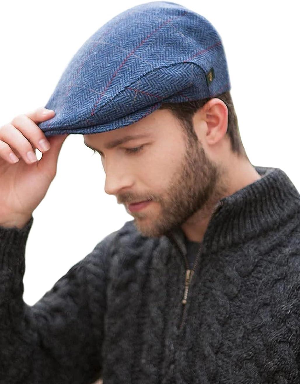 Mucros Weavers Irish Flat Cap Men Trinity Tweed Hat Driving Cap Made in Ireland