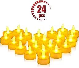 VicTsing Bougies à LED Lot de 24 Bougie LED Flamme Vacillante Electronique à Pile Bougies Électriques Mini Bougie avec Lumière Jaune Chaud (Piles Incluses) pour Noël Fête Soirée Anniversaire Mariage