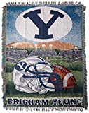 NORTHWEST NCAA BYU Cougars Woven Tapestry Throw Blanket, 48' x 60', Home Field Advantage