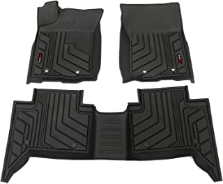Floor Mats Compatible for Toyota Tacoma Regular 2016.2017.2018.2019.2020.2021,3D Desdign TPE All Weather Floor Liners Custom Fit 2016-2021.Include 1st and 2nd Row Front&Rear Black Car Liner.