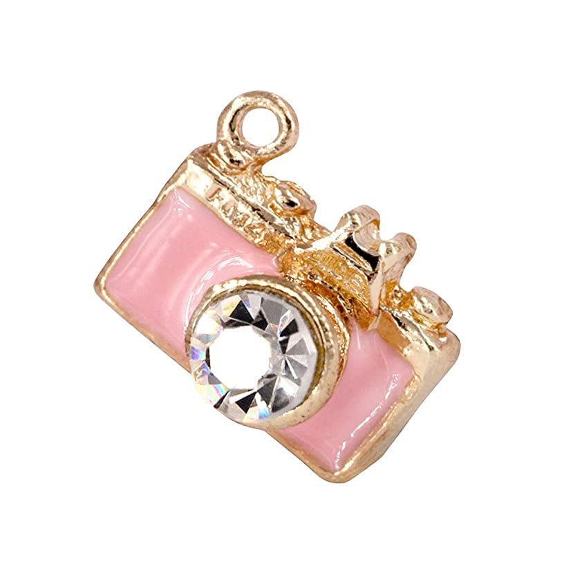 Creative DIY Pink Camera Charms Pendants Wholesale (Set of 3) MH18