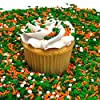 Shimmer & Shake Shamrock St. Patricks Day Mix - 8 OZ Resealable Standup Candy Bag - Confetti, Decorettes, Crystals, & Pearls - Green, Orange, Silver, and White Luck of the Irish Blend #5