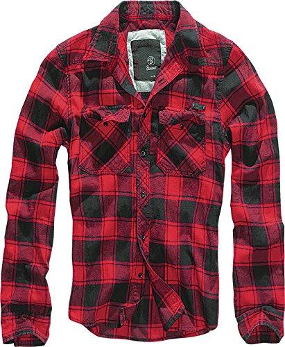 Brandit Check Shirt, Rojo-Negro XL