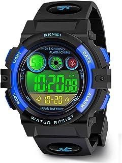 Digitale orologi per bambini ragazzia, Achort bambini sport 5 atm impermeabile orologio con sveglia/cronometro/EL per bamb...