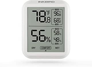 Inkbird ITH-20 Digital Thermometer Indoor Room Hygrometer Temperature Humidity Humidor Gauge Monitor Cigarette Guitar Ukul...