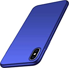 Arkour Minimalist Designed for iPhone Xs Case, iPhone X Case, Ultra Thin Slim Fit Cover with Smooth Matte Surface Hard PC Phone Case for iPhone X/iPhone Xs (Smooth Blue)