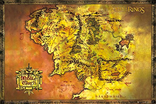 GB eye, der Herr der Ringe, Classic Map, Maxi Poster, 61x 91,5