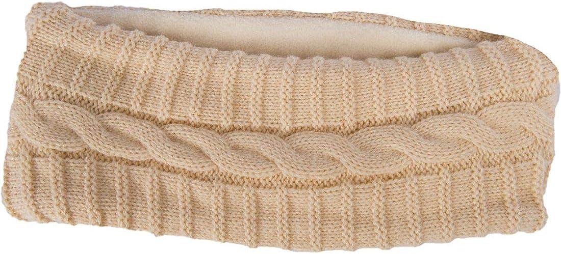 Aran Woollen Mills Ladies Knit Acrylic Headband, Natural Colour