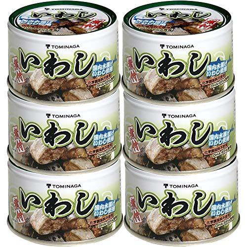 スマートマットライト 富永 いわし 煮つけ 缶詰 140g ×6個 [ 国内加工 化学調味料不使用 DHA EPA 含有]