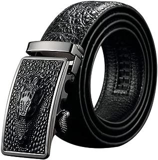 Black Friday Deals Cyber Monday Deals Week-Men Genuine Leather Belt Crocodile design Automatic Buckle