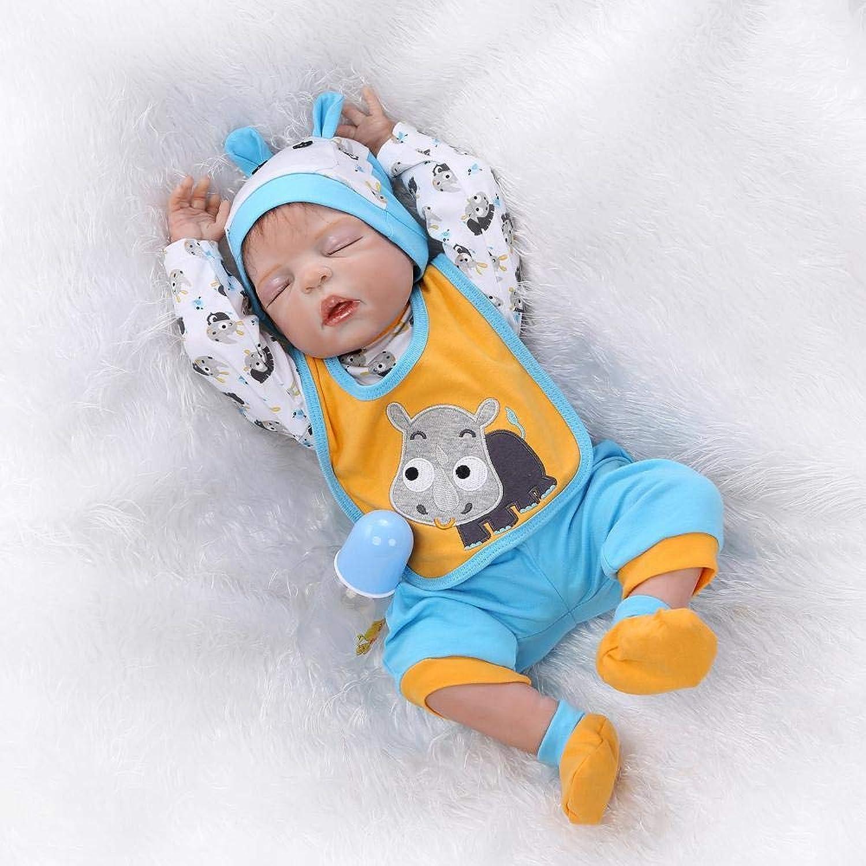 Hongge Reborn Baby Doll,Lebensechte Silikon Reborn Puppe Spielzeug Sieht real Newborn Puppe Spielzeug Geschenk 56cm B07J3DTBS2 Erste Gruppe von Kunden  | Schön In Der Farbe