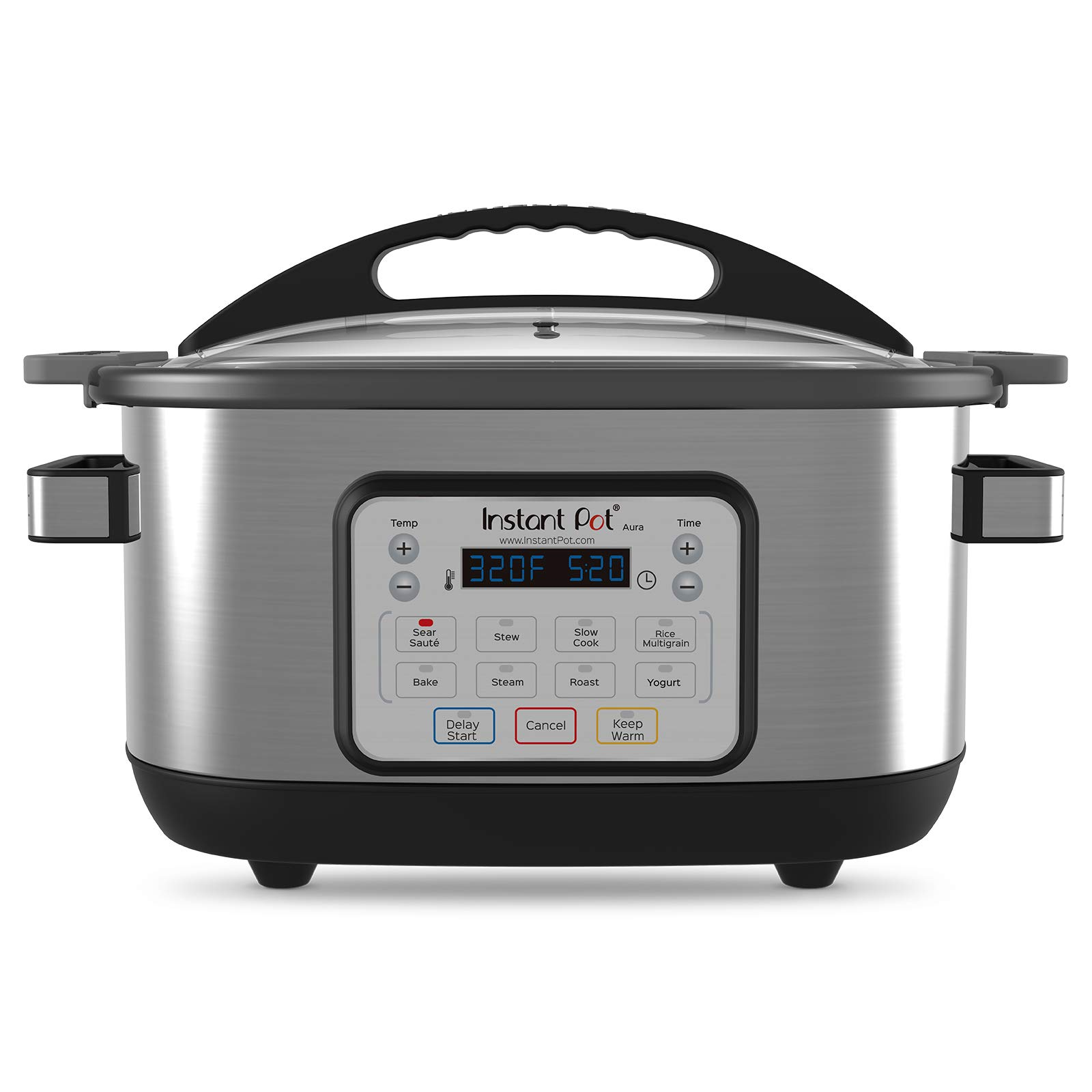 Instant Pot Aura 10-in-1 Multicooker Slow Cooker,6 Qt, 10 One-Touch Programs