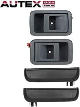 AUTEX Door Handles 4pcs Interior Exterior Front Rear Left Right Compatible with Toyota Tercel 1995 1996 1997 1998 1999 Door Handles Driver Passenger Side 77651 77786 RH LH