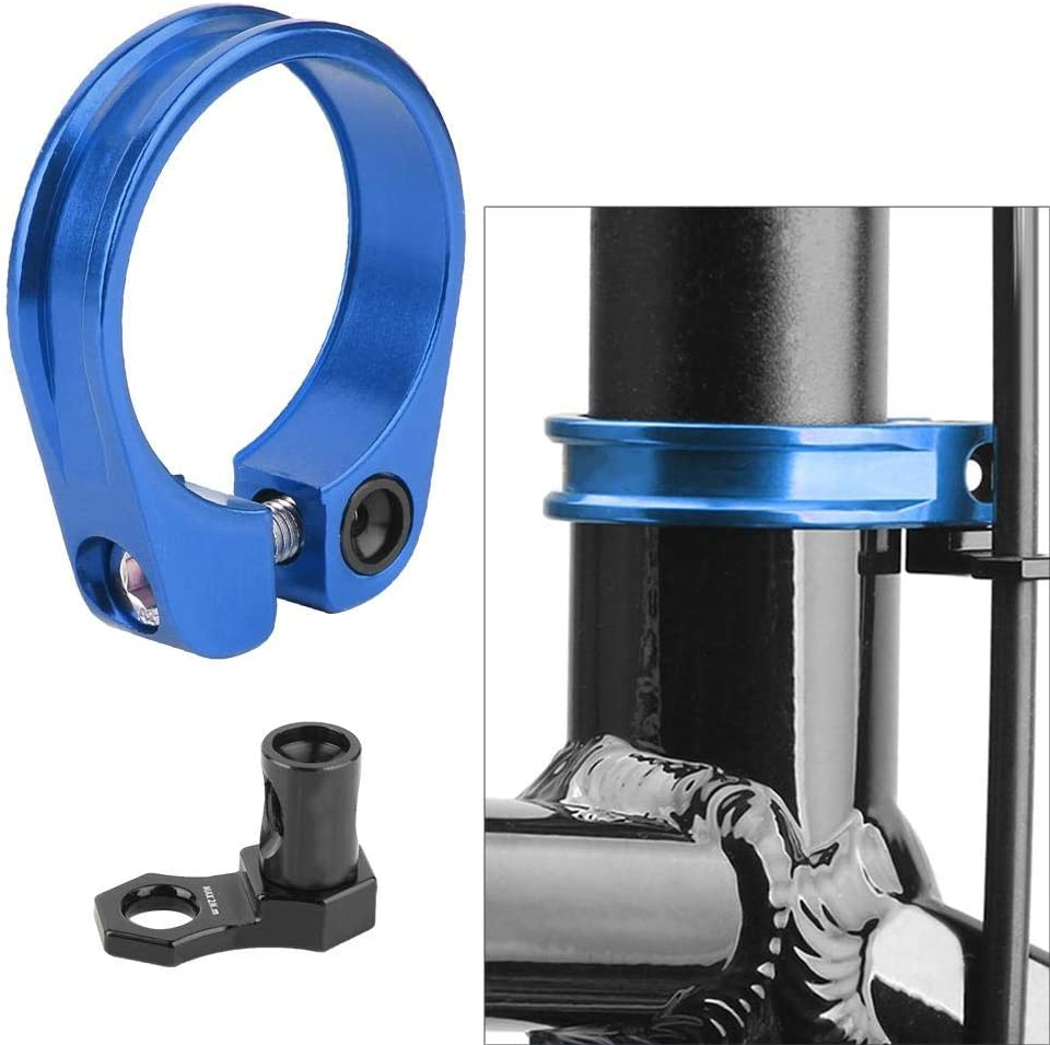 VGEBY1 Seat Tube Clamp,Aluminium Bike Seatposts Clamp for Mountain Road Bicycle