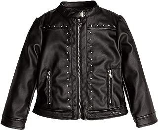 giacca in pelle con cappuccio tg 12 anni guess