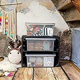 Rotho 1776008812 Aufbewahrungskiste Compact mit Deckel, Lager Box aus Kunststoff im DIN A4 Format, Inhalt 13 L, Plastik, transparent/anthrazit, 39.5 x 27.5 x 18 cm - 2