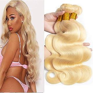 613 Blonde Bundles 9A Brazilian Body Wave 3 Bundles Blonde Human Hair Bundles 100% Virgin Human Hair Bundles Hair Extensio...