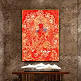 LYFCV Buddhistischer Buddha Thangka Leinwanddruck Malerei