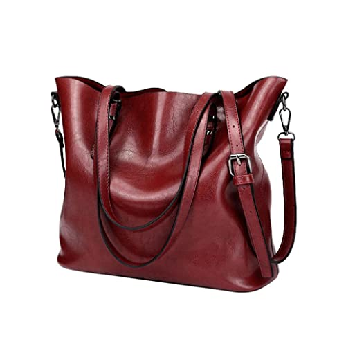 175648942593 Women Retro Crossbody Bag Rakkiss Leather Shoulder Bag Handbag Bucket Large  Capacity Bag Tote Backpack Bags