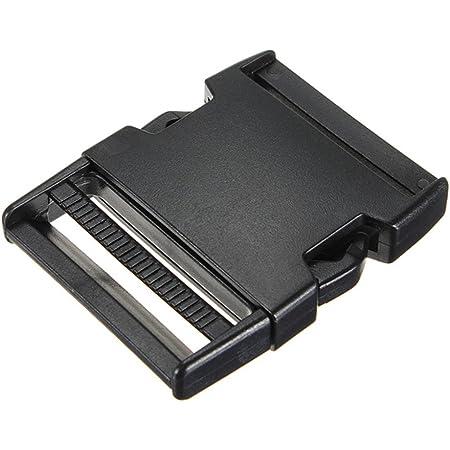 Lot de 50//100 boucles rectangulaires en plastique noir pour sac /à dos avec sangles de sac /à dos Webbing Size:1 50pcs