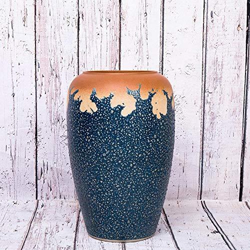 QWXINXING Moderne Keramik Ornamente Jingdezhen Bodenvase Hauptdekorationen Im Chinesischen Stil Haus Dekoration Blumenschmuck Wohnzimmer Handgemachte Getrocknete 60 cm