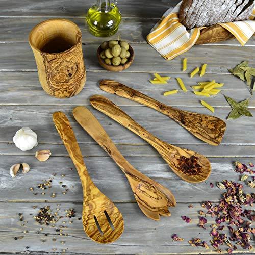 Utensilios de cocina de madera de olivo Darido, cucharón, espátula, cubiertos antiadherentes, juego de cucharas artesanales, accesorios de cocina ecológicos, herramientas resistentes al calor