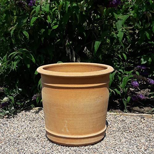 Kreta Keramik Canna Pot de fleurs en terre cuite fabriqué à la main - Résistant au gel - Pour l'intérieur et l'extérieur