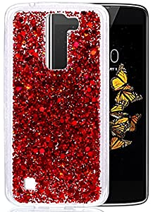 "LG K8 Coque, Coque LG K8, Protection LG K8, Nnopbeclik® Soft/Doux Silicone Transparente ""paillette brillant"" Backcover Housse (5.0 Pouces) Antiglisse Anti-Scratch Etui"